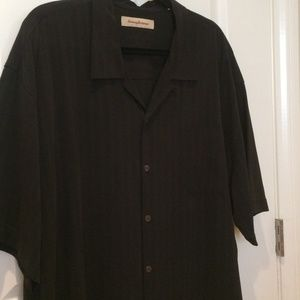 Tommy Bahama Black XXL Silk Shirt